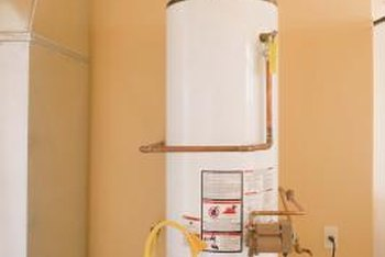 Aging hot water heaters can release rust into the household hot water.