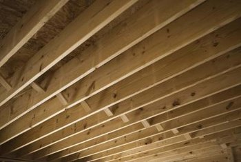 Ceiling joists are usually crowned, but the amount of crowning varies from board to board.