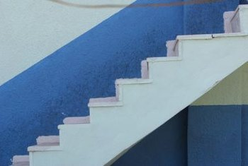 Paint plywood stair treads to enhance the beauty of the area.