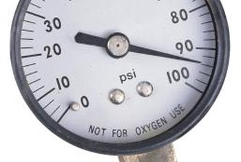 A pressure gauge helps to check household water pressure.