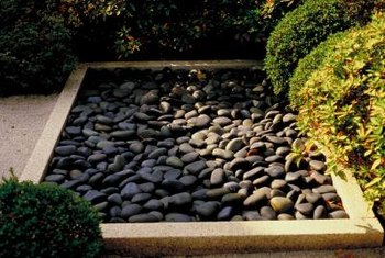Replace high-maintenance turf grasses with a rock garden and native plant species.