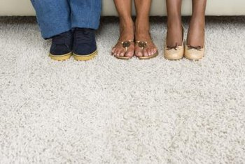 A wrinkle in wall-to-wall carpet is a sign that the carpet needs to be restretched.