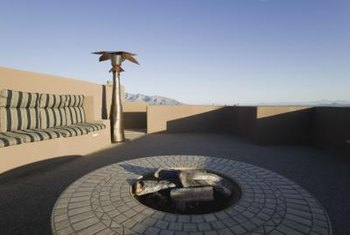 Surround your fire pit with non-flammable pavers or gravel.
