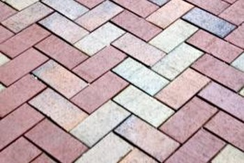 Herringbone patterns require cutting bricks at the edge of the slab.