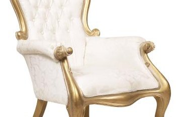 Create an elegant appearance with gold gilding on a chair.