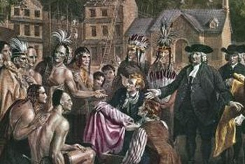 William Penn and the Lenape Indians traded and negotiated under the sacred meeting ground of elm trees.