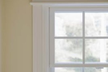 Decorative trim can enhance the look of any window.