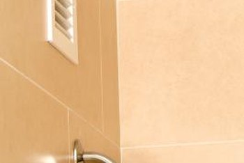 Proper ventilation in the bathroom helps to keep mold from developing.