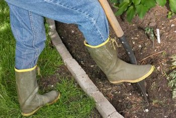 Walking on a flowerbed forces air out of the soil, so avoid this where possible.