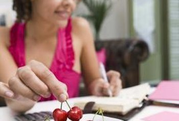 Writing down the calories for the food you eat is an effective method of managing how many you consume.