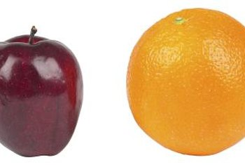 Apples and oranges are convenient, nutritious snacks.
