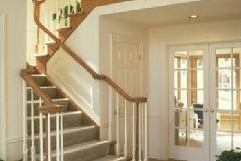 the cap and band method of installing carpet on stairs creates a custom appearance preferred by