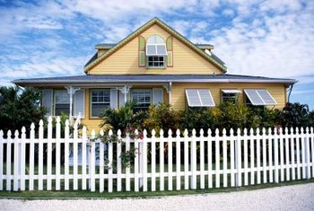 Picket fences usually are 3 or 4 feet tall if used in the front yard.