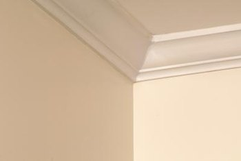 Cornice molding draws inspiration from traditional Greek and Roman designs.