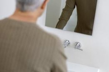 Many bathroom mirrors are frameless.