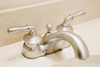 A new faucet updates the look of a kitchen or bathroom.