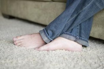 A carpet does not need to remain wrinkled and loose after being pulled up.