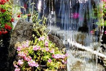 After the pump is installed add water, turn it on and start enjoying your water feature.