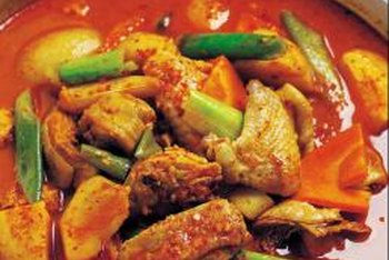 A spicy Korean stew, kimchi jjigae is a hearty and warming one-bowl meal.