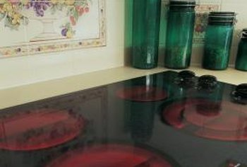 Ceramic cooktops are used with induction heating.