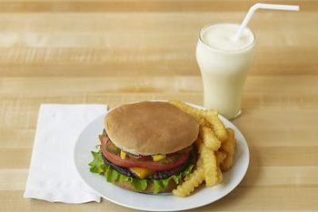 Burger, fries and a milkshake -- not the healthiest meal.