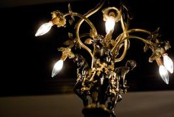 Change the appearance of any brass light fixture by antiquing the surface.