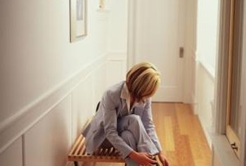 A simple bench in the hallway can expand a small bedroom nearby.