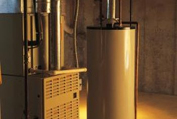 An updraft furnace is generally mounted in the basement.