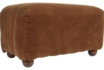Replace The Worn, Scarred Bun Feet On Your Ottoman When You Reupholster It.