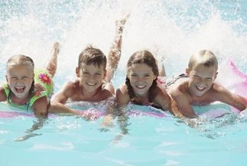 Frequent use can leave a film of sunscreen and body oil on your pool.