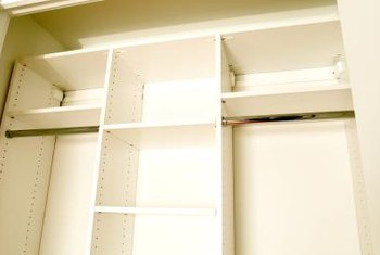 Some closet shelving units are adjustable.