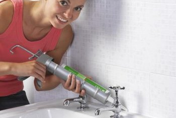 Fresh caulk is the finishing touch for a bathroom remodel.