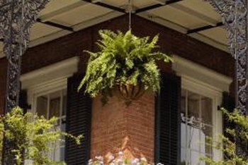 Hanging planters bring beauty to your balcony.