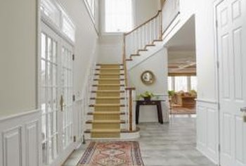Rugs add a softer look to tile flooring.