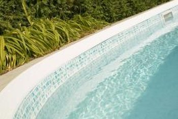 Treat brown scale in a pool either topically or chemically.