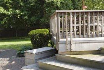A deck railing can help prevent serious injury from falls.