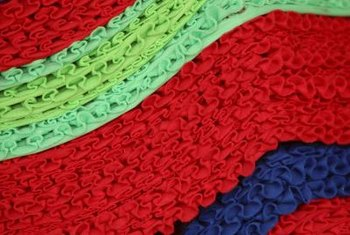 Find ready-made ruffled ribbon at a fabric store.