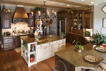 The rustic charm of a farm-style kitchen makes the room warm and comforting.