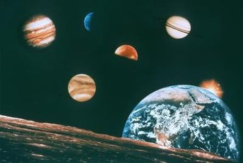 A stunning solar system can be created with a few supplies from the craft store.