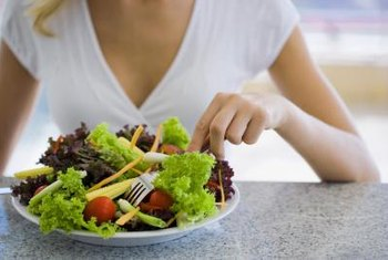 A salad provides vitamins, minerals and fiber needed to keep you healthy.