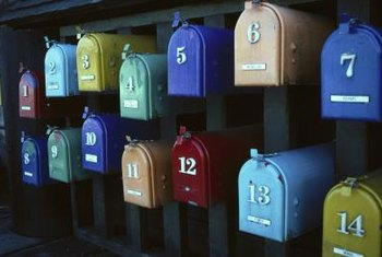 Tiny Target mailboxes look much like large mailboxes.
