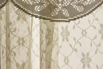 Drapes add color and style to a room design.