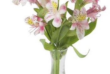 An arrangement of lilies provides seasonal indoor color.