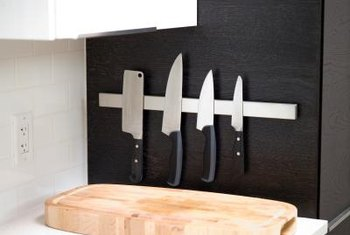 Making use of vertical surfaces for storage in your galley kitchen allows you to free up counter space.