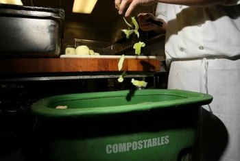 Vegetable and fruit scraps increase the nitrogen levels of compost.