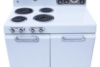 Painting a kitchen stove requires paint that is heat resistant.