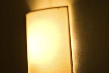 A wall sconce adds an attractive layer of light.