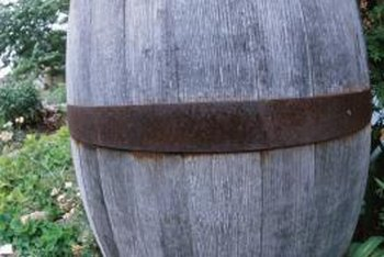 Wine barrels come in a variety of sizes and can easily be cut in half to make planters.