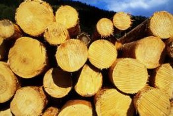 The rustic look of cut logs inspires home decor.