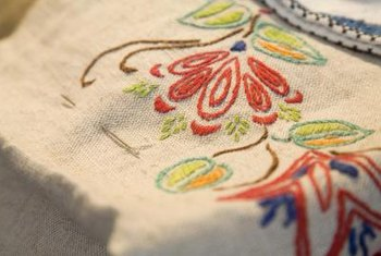 Vintage floral linens sewn together create a shabby chic comforter.